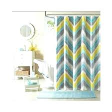 blue yellow shower curtain teal and yellow shower curtain chevron shower curtain teal blue grey bathroom