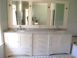 Traditional Bathroom Cabinets White Shaker Wooden Style On Vanity