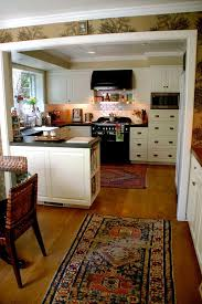 kitchen rugats with traditional spaces and tile backsplash oriental rugs cookbook shelf galley bookshelves