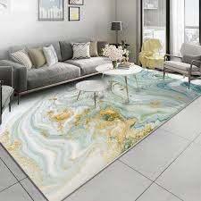AOVOLL Nordic Style <b>Abstract Stone Pattern</b> Light Green Gold ...