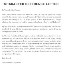 character letter of recommendation for a job professional character reference letter 15 samples and tips all