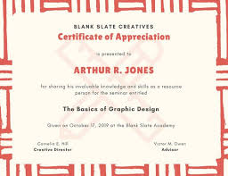 Certificate Of Appreciation Template For Word Magnificent Customize 48 Appreciation Certificate Templates Online Canva