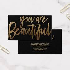 makeupartist businesds you are beautiful hair makeup artist business card