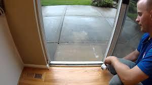 diy sliding glass door