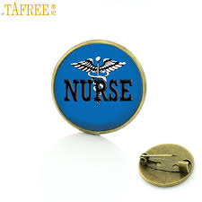 TAFREE 2017 <b>new arrival exquisite</b> Nurse glass dome metal badge ...