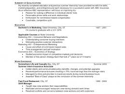 Fast Food Resume Objective Resume Templates