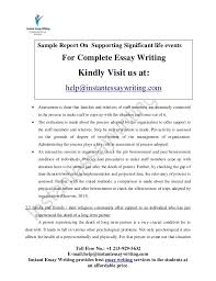 supporting significant life events sample by instant essay writing 7