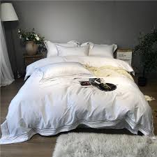 800tc egyptain cotton luxury hotel bedding set white gray queen king bed set duvet cover fitted sheet bed sheet parure de lit full duvet cover sets for