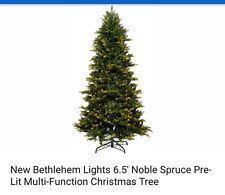 bethlehem lighting christmas trees. new bethlehem lights 65u0027 noble spruce prelit multifunction christmas tree lighting trees