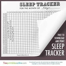 Free Printable Sleep Charts Antique Graph Sleep Tracker Free Printables Online