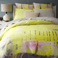 400 thread count anic expressionist sateen duvet cover west elm