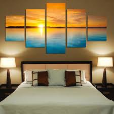 large wall paintingsAliexpresscom  Buy Fashion 5 Pieces Landscape Canvas Painting