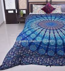Indian Reversible Duvet Cover Cotton Handmade Mandala Quilt Cover ... & Image is loading Indian-Reversible-Duvet-Cover-Cotton-Handmade-Mandala-Quilt - Adamdwight.com