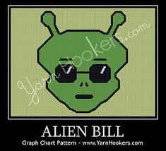 Alien Chart Alien Bill Chart Pattern By Yarnhookers Com