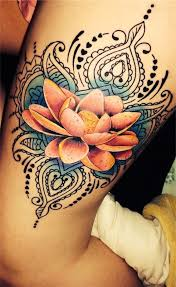 colored lotus flower