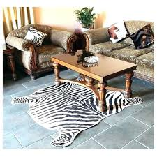 faux cow skin rugs cowhide rug 2 piece zebra print classic safari large area mat for