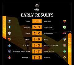 نتائج مباريات الـ 7:55 في اليوروبا ليغ 🔥🔥🔥🔥 - هوا سبورت - Hawa sport
