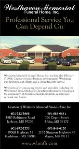 westhaven memorial funeral home