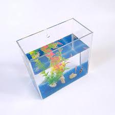countertop and wall mount square acrylic fish tank aquarium