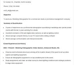 Videographer Resume Videographer Resume Sample Download Resume Template Videographer