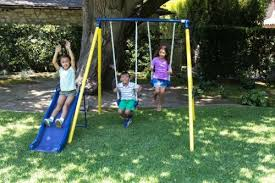 metal swing set small play ground