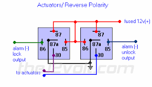 car security and convenience, power door locks, multiple wire 5 Wire Door Lock Diagram actuators reverse polarity relay diagram 5 wire door lock relay diagram