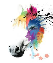 2018 light colors abstract horse oil painting on canvas modern wall art decoration for living room decor modern abstract horse heads from qushimei88