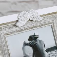 white angel wings photograph frame white angel wings photograph frame