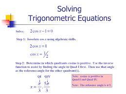 solving trigonometric equations