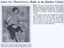Radio For Kitchen Cabinet Latest For Housewives Radio In The Kitchen Cabinet Modern Mechanix