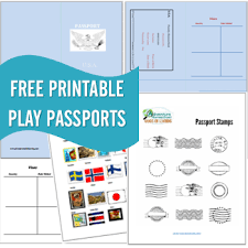 Free Passport Template For Kids FREE Printable Passports Country Stamps 14