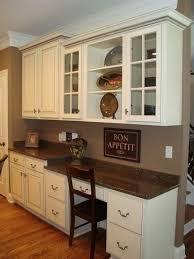 office in kitchen. built in kitchen desk office