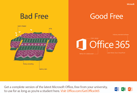 banner about free microsoft office 365
