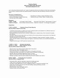 Resume Qualifications Examples Best Of Guard Security Ficer Resume