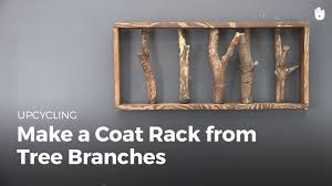 Make A Coat Rack DIY Projects Make a Coat Rack from Tree Branches Upcycling YouTube 75