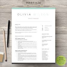Word Resume Cover Letter Template Templates Creative Layout For I