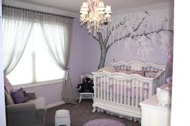 purple and grey nursery baby room purple wall paint for baby nursery with white window curtains plus tree wall art decal also white wooden baby crib