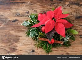 Weihnachts Dekoration Mit Weihnachtsstern Blume Euphorbia