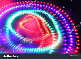 Electron Led Lights Moving Spinning Led Lights Abstract Idea Stock Photo Edit