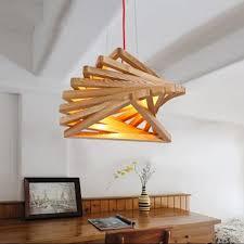 image of stylish wooden chandelier