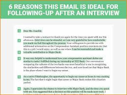 Best Thank You Email After Interview 6 Reasons This Is The Perfect
