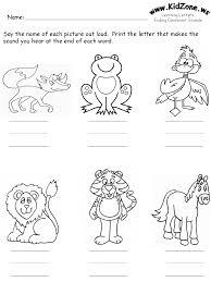 Animals Worksheets For Preschool ending consonants review ...