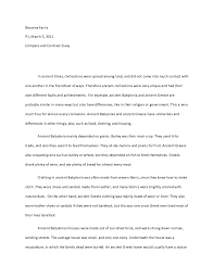 compare and contrast essay examples for college www gxart orghow to write a compare and contrast essay compare and contrast examples
