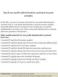 Resume For Non Profit Job Free Resume Example And Writing Download