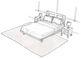 what size rug do you put under a king bed designs