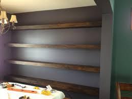 Floating Shelves In Dining Room Walltowall Floating Shelves in Dining Room Shanty 100 Chic 51