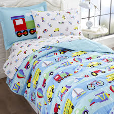 transportation bedding twin. Modren Transportation Blue Transportation Train U0026 Trucks Bedding Twin Or Full Bed In A Bag  Comforter Sheets Throughout S