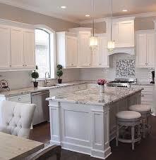 white cabinets. Contemporary White White Kitchen Cabinets With Granite Countertops In C