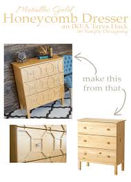 diy ikea tarva dresser. You Won\u0027t Believe This IKEA Hack! Beautiful Art Deco Inspired Metallic Gold Diy Ikea Tarva Dresser A