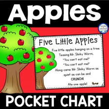 Apple Tree Pocket Chart Five Little Apples Pocket Chart Preschool Apple Theme